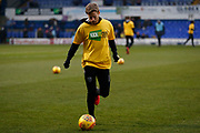 Eunan O'Kane of Leeds United  warming up ahead of the EFL Sky Bet Championship match between Ipswich Town and Leeds United at Portman Road, Ipswich, England on 13 January 2018. Photo by Phil Chaplin.