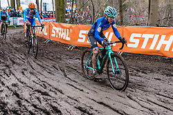 Chiara TEOCCHI of Italy racing in the mud with her Bianchi Zolder during the Women Under 23 race, UCI Cyclo-cross World Championships at Valkenburg, the Netherlands, 3 February 2018. Photo by Pim Nijland / PelotonPhotos.com | All photos usage must carry mandatory copyright credit (Peloton Photos | Pim Nijland)