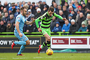 Forest Green Rovers Christian Doidge(9) runs forward during the EFL Sky Bet League 2 match between Forest Green Rovers and Coventry City at the New Lawn, Forest Green, United Kingdom on 3 February 2018. Picture by Shane Healey.