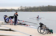 Caversham, GREAT BRITAIN, Adaptive Rowing Media Day [athletes training for the Beijing Paralympics]02.04.2008  [Mandatory Credit, Peter Spurrier / Intersport-images Rowing course: GB Rowing Training Complex, Redgrave Pinsent Lake, Caversham, Reading