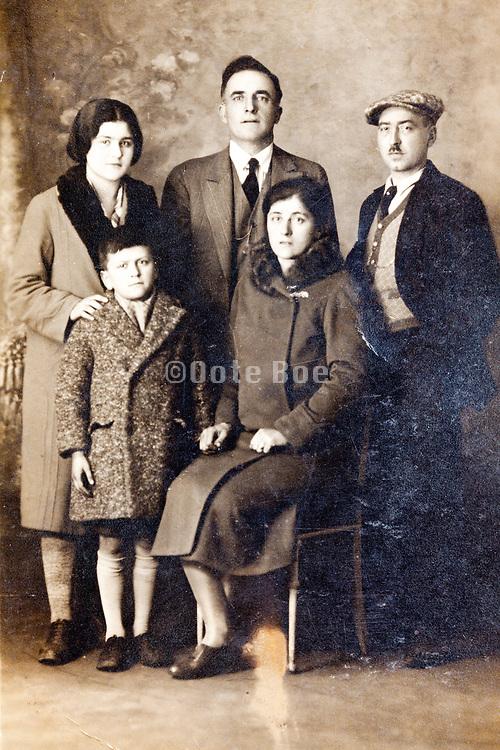 vintage family group studio portrait