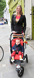 JODIE KIDD and her son INDIO at the launch of the Natalia Dress, inspired by Natalia Vodianova to benefit her Naked Heart Foundation held at Caramel Baby&Child, 77 Ledbury Road, London W11 on 16th May 2012.