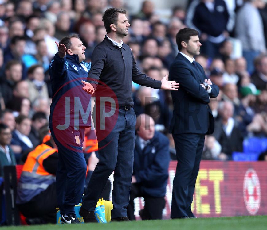 Aston Villa Manager, Tim Sherwood and Tottenham Hotspur Manager, Mauricio Pochettino - Photo mandatory by-line: Robbie Stephenson/JMP - Mobile: 07966 386802 - 11/04/2015 - SPORT - Football - London - White Hart Lane - Tottenham Hotspur v Aston Villa - Barclays Premier League