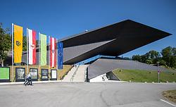 04.07.2019, Festspielhaus, Erl, AUT, Tiroler Festspiele Erl, Eröffnung der Sommersaison 2019/20, im Bild Aussenansicht Festspielhaus Erl mit Baustelle // Exterior Festspielhaus Erl during the Tyrolean festival Erl opening of the summer season 2019/20 at the Festspielhaus in Erl, Austria on 2019/07/04. EXPA Pictures © 2019, PhotoCredit: EXPA/ Johann Groder