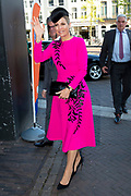 Koningin Maxima tijdens het jubileumcongres Nibud in TivoliVredenburg.<br /> <br /> Queen Maxima during the Nibud jubilee congress in TivoliVredenburg.
