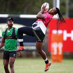 Aphelele Fassi with S'busiso Nkosi of the Cell C Sharks during The Cell C Sharks training session at Jonsson Kings Park Stadium in Durban, South Africa 16th April 2019 (Photo by Steve Haag)