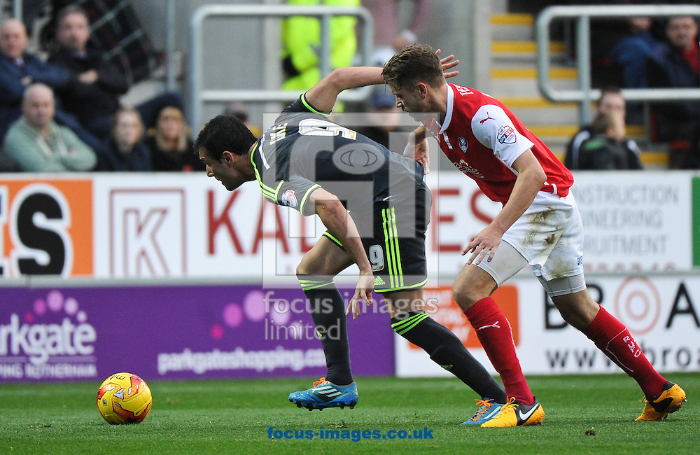 Kike of Middlesbrough makes a break during the Sky Bet Championship match at the New York Stadium, Rotherham<br /> Picture by Richard Land/Focus Images Ltd +44 7713 507003<br /> 01/11/2014
