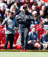 Football - 2018 / 2019 Premier League - Liverpool vs. Wolverhampton Wanderers <br /> <br /> Jurgen Klopp manager of Liverpool, at Anfield<br /> <br /> COLORSPORT/BRUCE WHITE