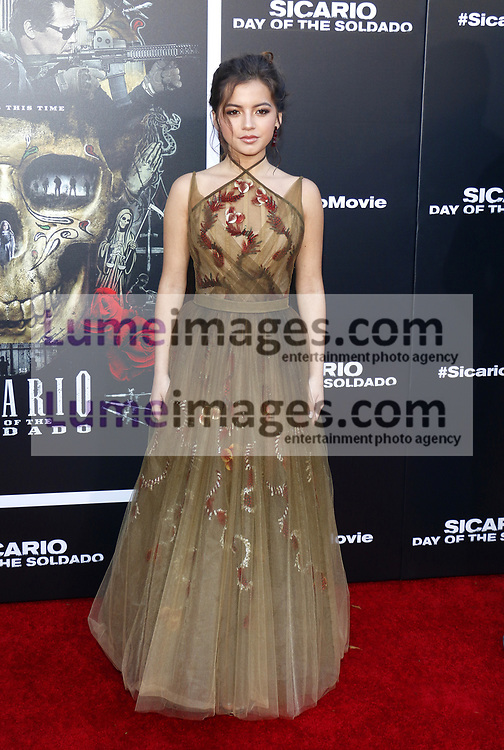 Isabella Moner at the Los Angeles premiere of 'Sicario: Day Of The Soldado' held at the Regency Village Theatre in Westwood, USA on June 26, 2018.