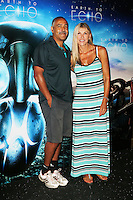 Daley Thompson; Sharron Davies, Earth to Echo - Celebrity Screening, The May Fair Hotel, London UK, 20 July 2014, Photo by Richard Goldschmidt