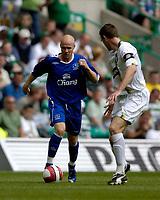Photo: Jed Wee.<br /> Glasgow Celtic v Everton. Pre Season Friendly. 23/07/2006.<br /> <br /> Everton's new signing Andy Johnson (L) takes on Celtic captain Stephen McManus.