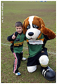 Northampton Saints Premier Rugby Camp at Old Scouts RFC. 04-04-2006. Pics with Mascot