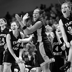Kyle Green - The Roanoke Times<br /> March 08, 2007 Floyd County High School girls basketball players scream in excitement during the final seconds of their VHSL State Basketball Tournament Group A semi-final win against Stonewall Jackson High at the Virginia Commonwealth University Siegel Center in Richmond, Virginia.