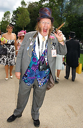 Racing tipster JOHN McCRIRICK at the first day of the Royal Ascot racing festival 2006 at Ascot Racecourse, Berkshire on 20th June 2006.<br />