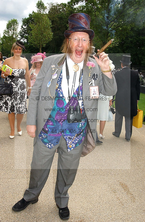 Racing tipster JOHN McCRIRICK at the first day of the Royal Ascot racing festival 2006 at Ascot Racecourse, Berkshire on 20th June 2006.<br /><br />NON EXCLUSIVE - WORLD RIGHTS