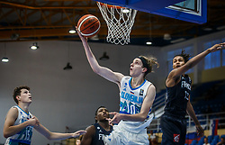 Stavrov  Andrej of Slovenia during basketball match between National teams of Slovenia and France in the Group Phase C of FIBA U18 European Championship 2019, on July 27, 2019 in Nea Ionia Hall, Volos, Greece. Photo by Vid Ponikvar / Sportida