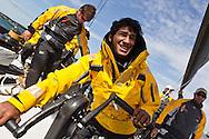ENGLAND, Cowes. 10th August 2011. Training with Abu Dhabi Ocean Racing.  Adhil Khalid.