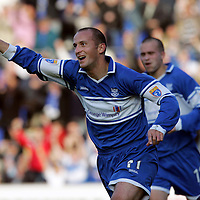 St Johnstone v Gretna...14.10.06<br />Paul Sheerin celebrates his goal making it 1-1<br /><br />Picture by Graeme Hart.<br />Copyright Perthshire Picture Agency<br />Tel: 01738 623350  Mobile: 07990 594431