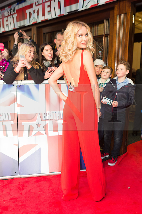 "© Licensed to London News Pictures. 22/01/2016. London, UK. Amanda Holden arrives at The Dominion Theatre in London for the ""Britain's Got Talent"" auditions. Photo credit : Vickie Flores/LNP"
