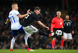 Lucas Biglia of Argentina is challenged by Ciro Immobile of Italy - Mandatory by-line: Matt McNulty/JMP - 23/03/2018 - FOOTBALL - Etihad Stadium - Manchester, England - Argentina v Italy - International Friendly