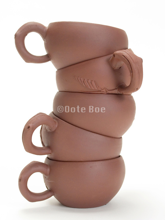 stacked ceramic Chinese tea cups