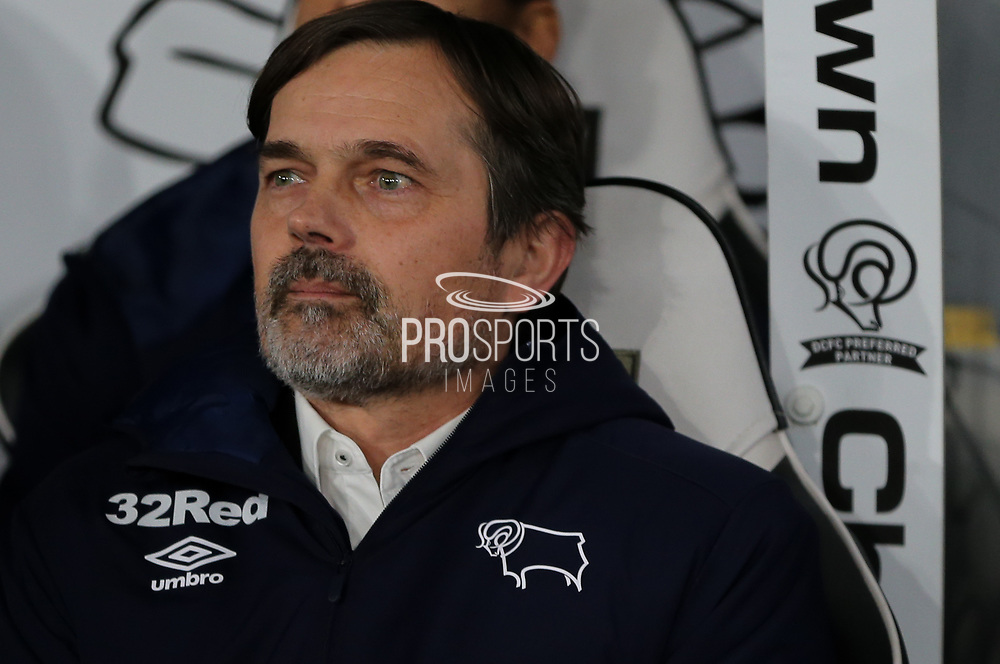Derby County Manager Phillip Cocu during the The FA Cup match between Derby County and Manchester United at the Pride Park, Derby, England on 5 March 2020.