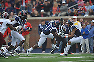 Mississippi's Laquon Treadwell (1) scores against Troy at Vaught-Hemingway Stadium in Oxford, Miss. on Saturday, November 16, 2013. Ole Miss won 51-21.