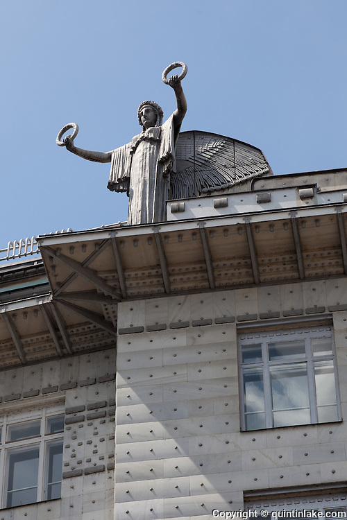 Aluminium Statue. Post Office Savings Bank, Vienna, Austria 1904-12 Architect: Otto Wagner