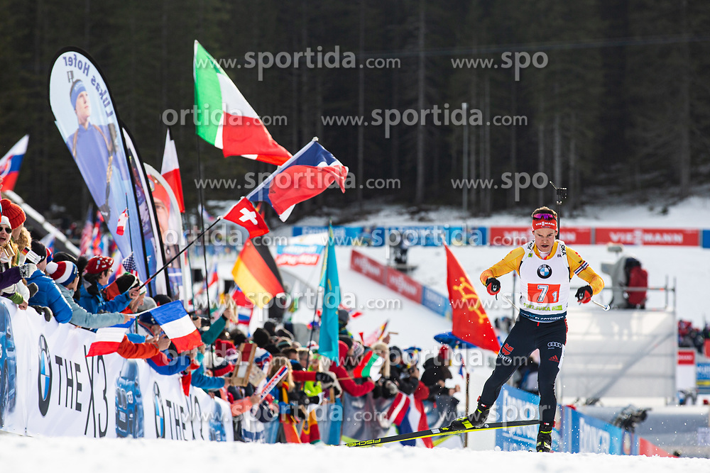 Philipp Horn (GER) during the Mixed Relay 2x 6 km / 2x 7,5 km at day 3 of IBU Biathlon World Cup 2019/20 Pokljuka, on January 23, 2020 in Rudno polje, Pokljuka, Pokljuka, Slovenia. Photo by Peter Podobnik / Sportida