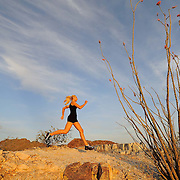 Runner, Samantha Kozuch at the Phoenix Mountain Preserve, Piewesta Mountain Trail.