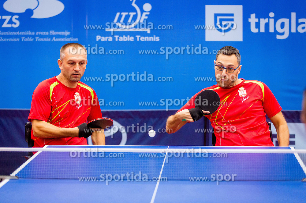SERBIA (PERLIC Goran and STOILJKOVIC Boris) during day 4 of 15th EPINT tournament - European Table Tennis Championships for the Disabled 2017, at Arena Tri Lilije, Lasko, Slovenia, on October 1, 2017. Photo by Ziga Zupan / Sportida