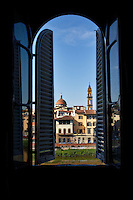 View from a window in Florence, Italy.