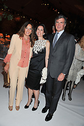 Left to right, SARA CARELLO and PRINCE & PRINCESS KARL von AUERSPERG-BREUNNER at a dinner hosted by Cartier following the following the opening of the Chelsea Flower Show 2012 held at Battersea Power Station, London on 21st May 2012.