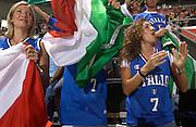 DESCRIZIONE : Madrid Spagna Spain Eurobasket Men 2007 Qualifying Round Germania Italia Germany Italy GIOCATORE : Marconato Tifosi Supporters <br /> SQUADRA : Nazioanle Italia Uomini Italy <br /> EVENTO : Eurobasket Men 2007 Campionati Europei Uomini 2007 <br /> GARA : Germania Italia Germany Italy <br /> DATA : 12/09/2007 <br /> CATEGORIA : Esultanza <br /> SPORT : Pallacanestro <br /> AUTORE : Ciamillo&amp;Castoria/JF.Molliere <br /> Galleria : Eurobasket Men 2007 <br /> Fotonotizia : Madrid Spagna Spain Eurobasket Men 2007 Qualifying Round Germania Italia Germany Italy Predefinita :