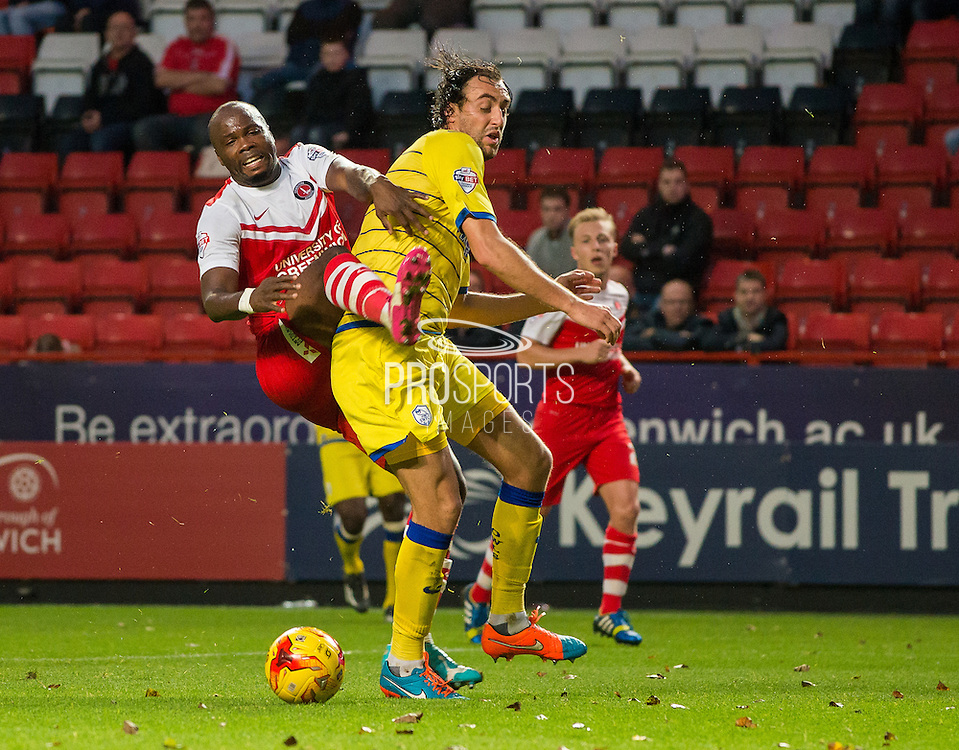 *** during the Sky Bet Championship match between Charlton Athletic and Sheffield Wednesday at The Valley, London, England on 1 November 2014.