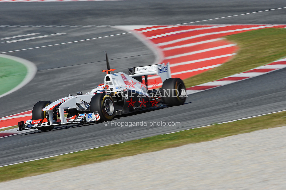 18.02.2011, Circuit de Catalunya, Barcelona, ESP, Formel 1 Test 3 2011,  im Bild Kamui Kobayashi (JPN), Sauber F1 Team EXPA Pictures © 2011, PhotoCredit: EXPA/ nph/  Dieter Mathis       ****** out of GER / SWE / CRO  / BEL ******