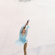 Mariah Bell competes during the championship ladies free skate at the 2014 US Figure Skating Championships at the TD Garden on January 11, 2014 in Boston, Massachusetts.