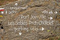 France, Vendée (85), Ile d'Yeu, signaletique// France, Vendée, Yeu island