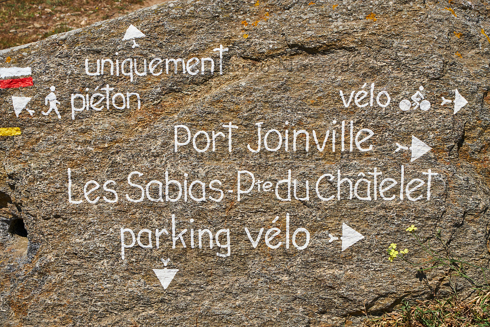 France, Vendée (85), Ile d'Yeu, signaletique// France, Vendée, Yeu island