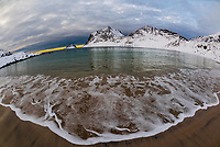 Haukland Beach, ner Uttakleiv, Lofoten Islands, Arctic, Northern Norway.