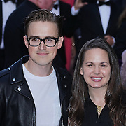 London,England,UK : 15 June 2016 : Tom Fletcher , Giovanna Falcone attend the Disney's Aladdin Opening Night at the Prince Edward Theatre on Old Compton Street, Soho, London. Photo by See Li
