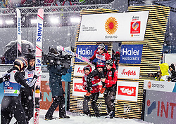 01.03.2019, Seefeld, AUT, FIS Weltmeisterschaften Ski Nordisch, Seefeld 2019, Skisprung, Herren, im Bild Ryoyu Kobayashi (JPN), Goldmedaillengewinner und Weltmeister Dawid Kubacki (POL) // Ryoyu Kobayashi of Japan , Gold Medalist and worldchampion Dawid Kubacki of Poland during the men's Skijumping of FIS Nordic Ski World Championships 2019. Seefeld, Austria on 2019/03/01. EXPA Pictures © 2019, PhotoCredit: EXPA/ JFK