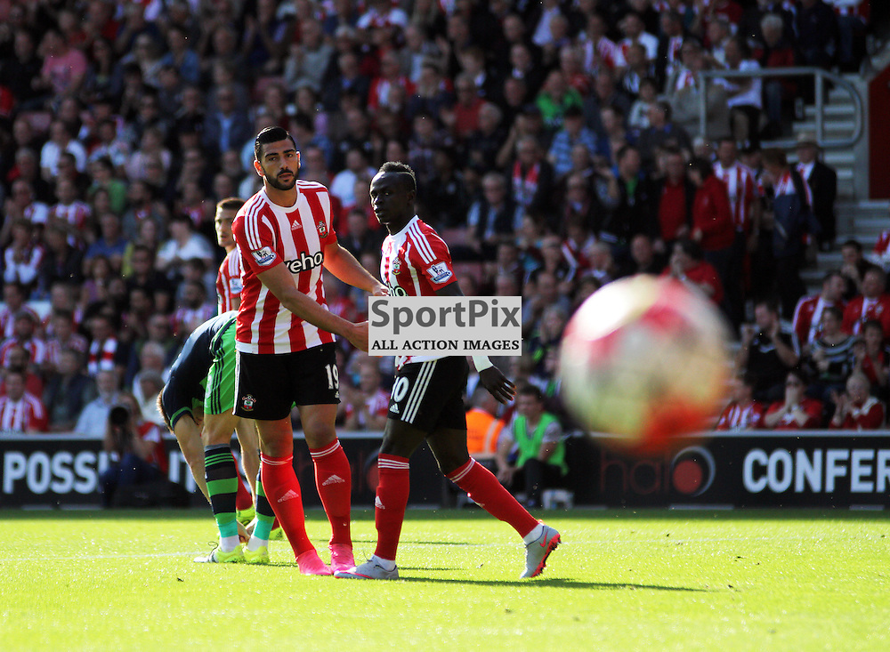 Graziano Pelle misfiring During Southampton vs Swansea on Saturday 26th September 2015.