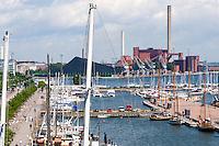 Finland, Helsinki. Harbour and Suvilahti.
