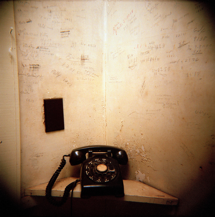 William Faulkner's telephone lays benignly maintained with the phone numbers writ in his handwriting left on the now peeling paint.  It was to this phone he was summoned to learn that he had won the Nobel Prize, and where he would later give his famous speech.