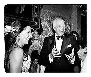 Laure Boulay de Meurthe & Sir James Goldsmith.  Ball given by Count Giovanni Volpi. Venice. 31 August 1991. Film 91589f31<br /> © Copyright Photograph by Dafydd Jones<br /> 66 Stockwell Park Rd. London SW9 0DA<br /> Tel 0171 733 0108