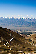 Climbing the road out of Leh.