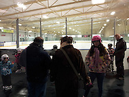 Skaters learn to skate at a Canskate session at Adie Knox Herman Recreational Complex, Windsor, Canada