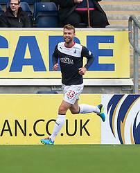 Falkirk's Rory Loy (33) cele scoring their goal.<br /> half time : Falkirk 1 v 0 Dundee, 21/9/2013.<br /> &copy;Michael Schofield.