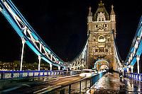 Tower Bridge @ Night (color)